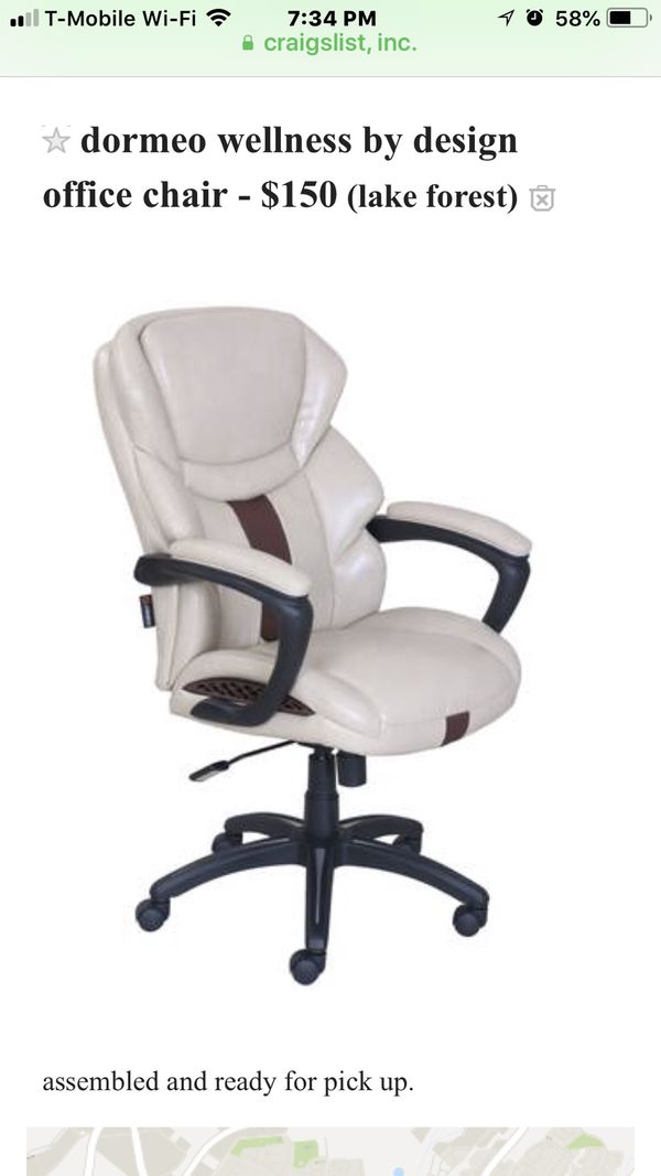 Dormeo Wellness By Design Office Chair For Sale In Lake Forest Ca