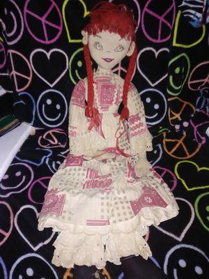 Antique primitive Pippi Longstocking rag doll for Sale in Alton, IL