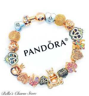Photo Pandora Fairytale Love Bracelet Beads Charms Size 8.3