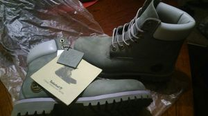 Deep grey timberland boots worn once for Sale in Denver, CO