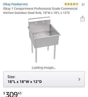 Commercial stainless steel kitchen sink for Sale in Olney, MD