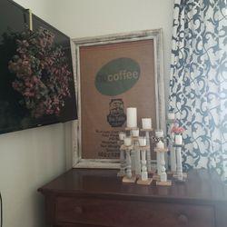 Extra Large Framed Coffee Bean Burlap Bag Thumbnail