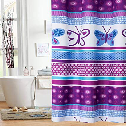 Shower Curtain Butterfly Fabric Mainstays Kids