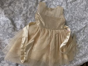 Baby girl Holiday dress Gold color - Size (6-9 months) for Sale in North Potomac, MD
