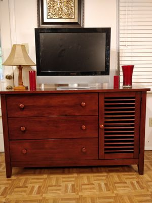 "Nice solid wood dresser/buffet/TV stand with big drawers in very good condition, all drawers sliding smoothly. L56""*W29""*H34"" for Sale in Annandale, VA"