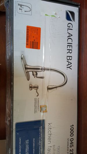 Glacier BayPavilion Single-Handle Pull-Down Sprayer Kitchen Faucet with Soap Dispenser in Stainless Steel for Sale in Rockville, MD