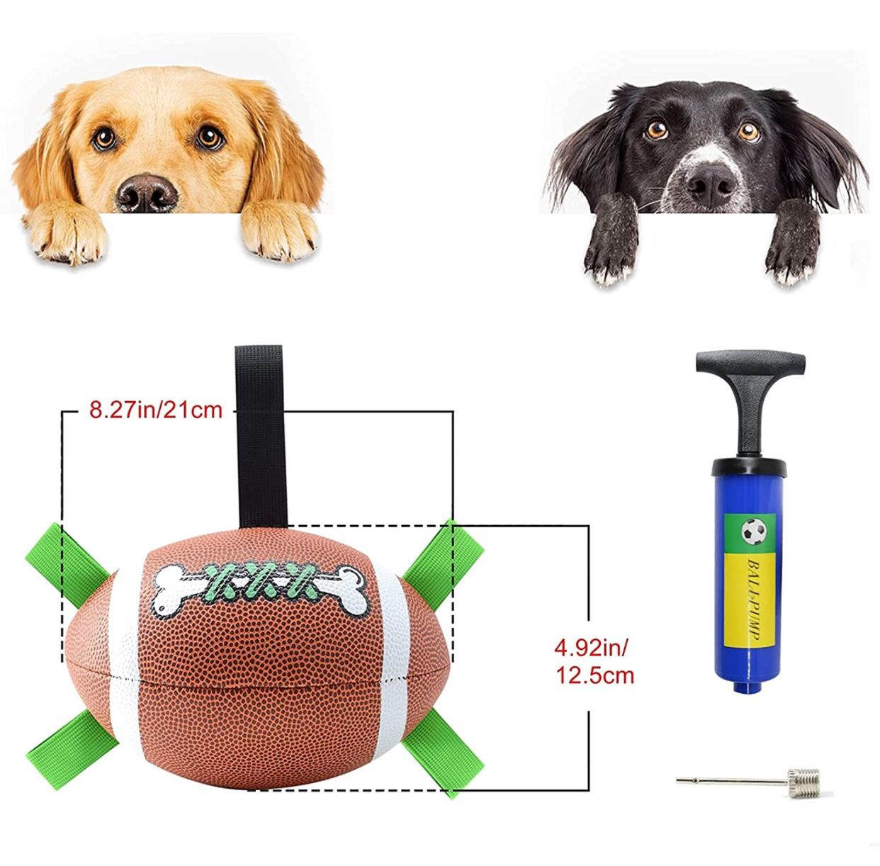 Dog Ball, Dog Toys for Large Dogs, Interactive Dog Toy for Medium & Small Dogs, Water Toys for Dogs (8 Inch)