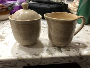 Creamer & sugar set and French onion soup bowls for Sale in Dulles, VA