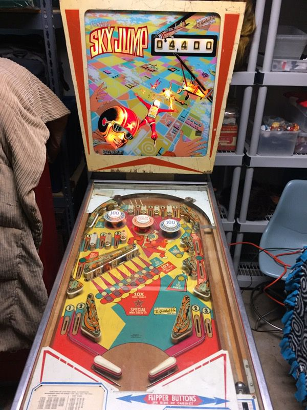 Vintage Pinball Gottlieb Sky Jump For Sale In North Palm Beach Fl