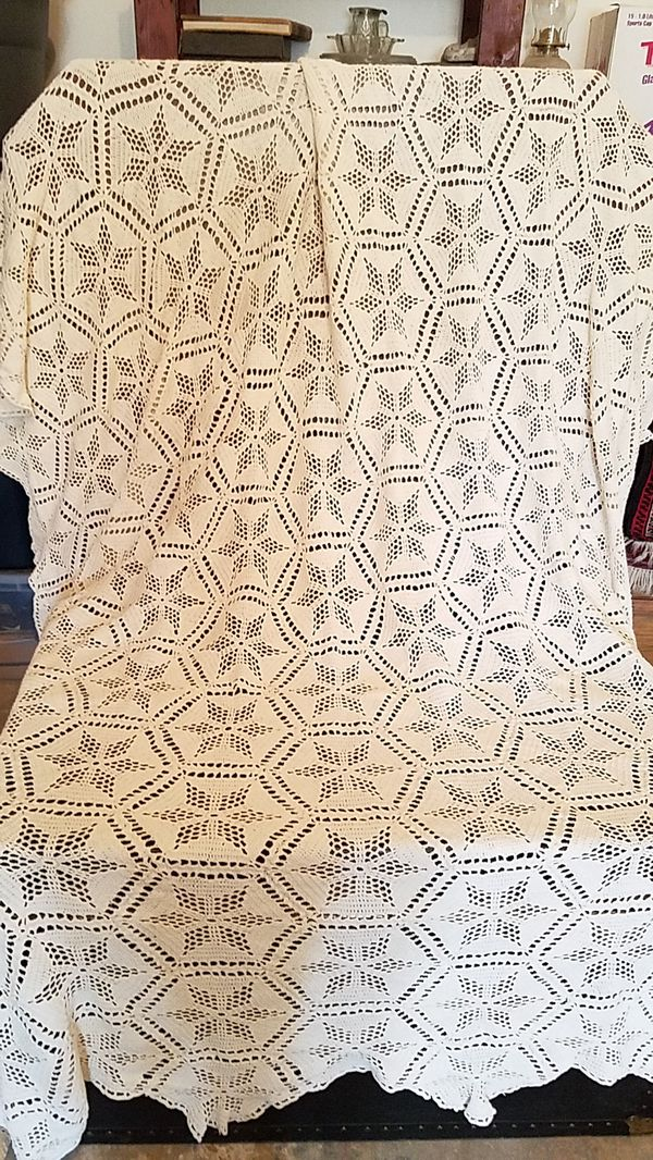 Vintage Crocheted Table Cloth For Sale In Snohomish WA OfferUp