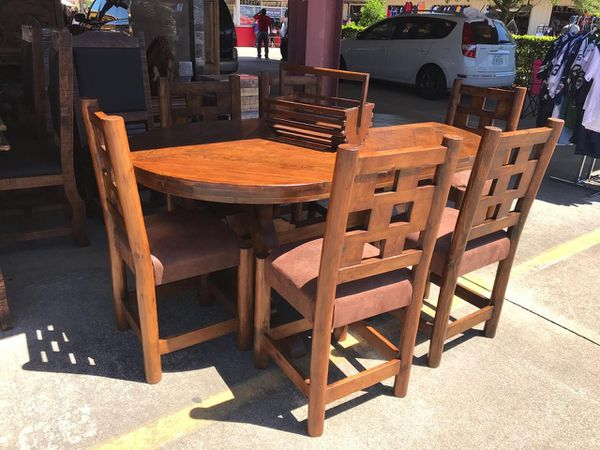 comedor rustico 100% madera for Sale in Houston, TX - OfferUp