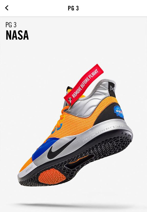 f552b505369d PG3 NASA Paul George limited edition basketball shoe for Sale in ...