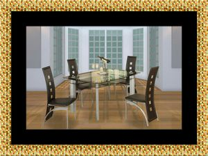 Glass dining table with 4 chairs for Sale in Chevy Chase, MD