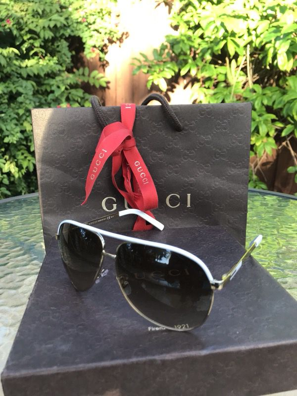 06a86b2d1 GUCCI GG 1827/S BNCIS Pilot Aviator Gold White Metal Brown Women Sunglasses  for Sale in North Palm Beach, FL - OfferUp