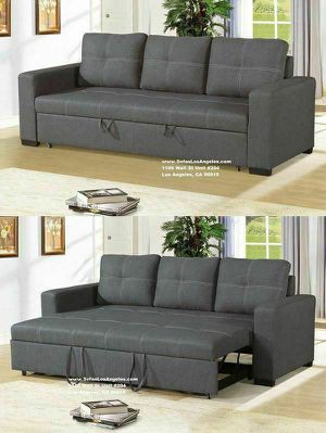Blue Grey Pull Out Couch Sofa Bed for Sale in Los Angeles, CA