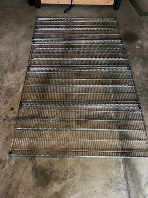 """Four (4) Omega wire shelves - 24"""" x 60"""" for Sale in Washington, DC"""