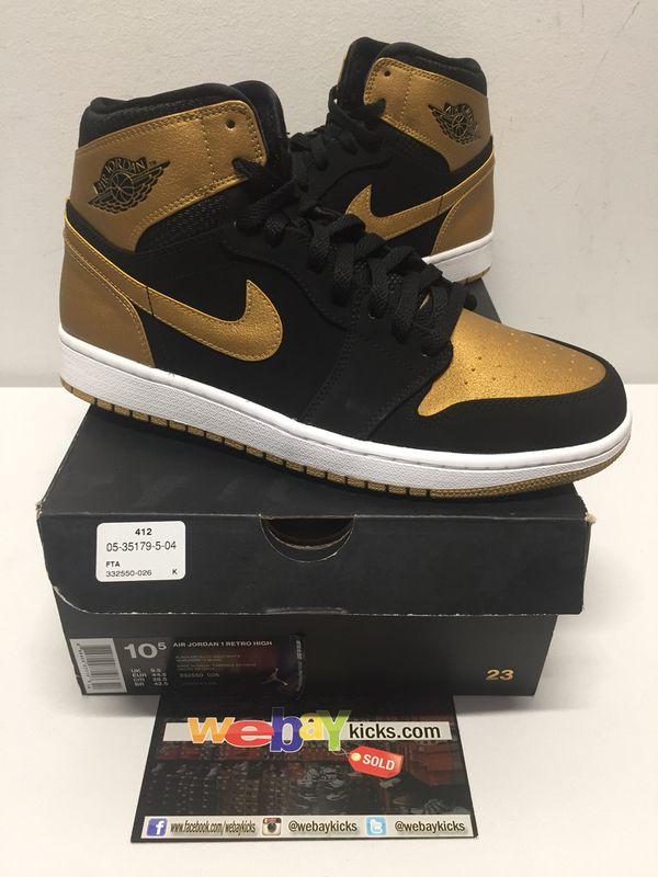 "dfc625058cfe07 Jordan Retro 1 High ""Melo"" PE Black Gold Men s Size 10.5 Brand New 100%  Authentic for Sale in Bronx"