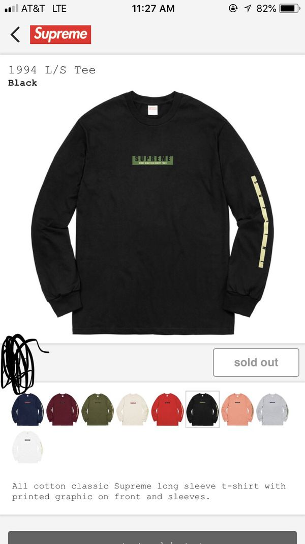 e82258a70675 Supreme long sleeve shirt fw18 for Sale in Bronx, NY - OfferUp