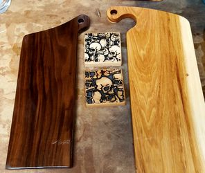 Serving/Cutting board with Coasters Thumbnail