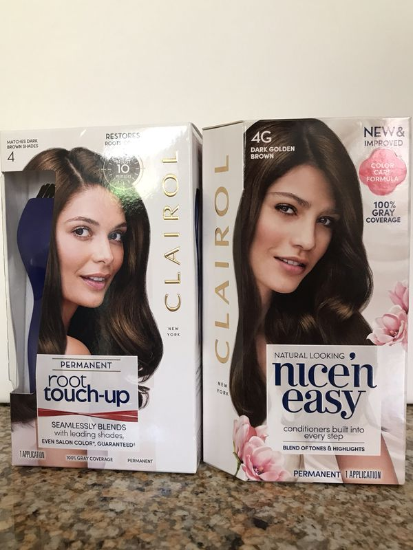 Clairol Hair Color Root Touch Up Dark Golden Brown Both 10