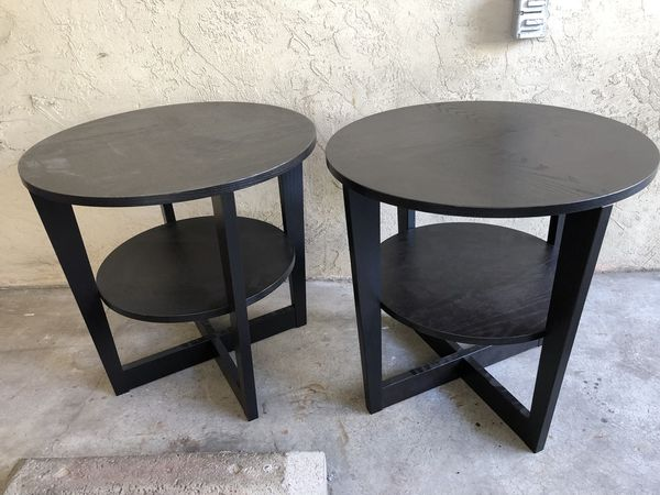 Round Table Alameda.Ikea Vejmon Side Table Black Brown X2 Both For 40 For Sale In Alameda Ca Offerup