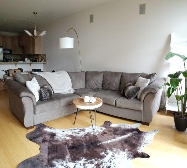 Ashley Furniture Grey Microfiber Sectional Sofa for Sale in Kirkland, WA -  OfferUp