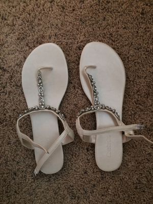 Size 8/9 White Sandals for Sale in Apex, NC