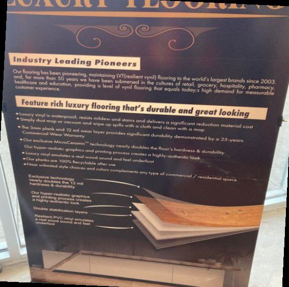 Luxury vinyl flooring!!! Only .67 cents a sq ft!! Liquidation close out! 25C