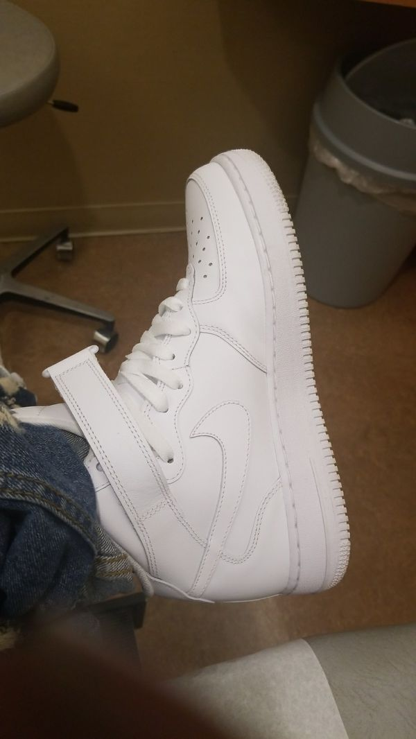 all white g fazos still fresh wore 2 times size 8 5 for sale in