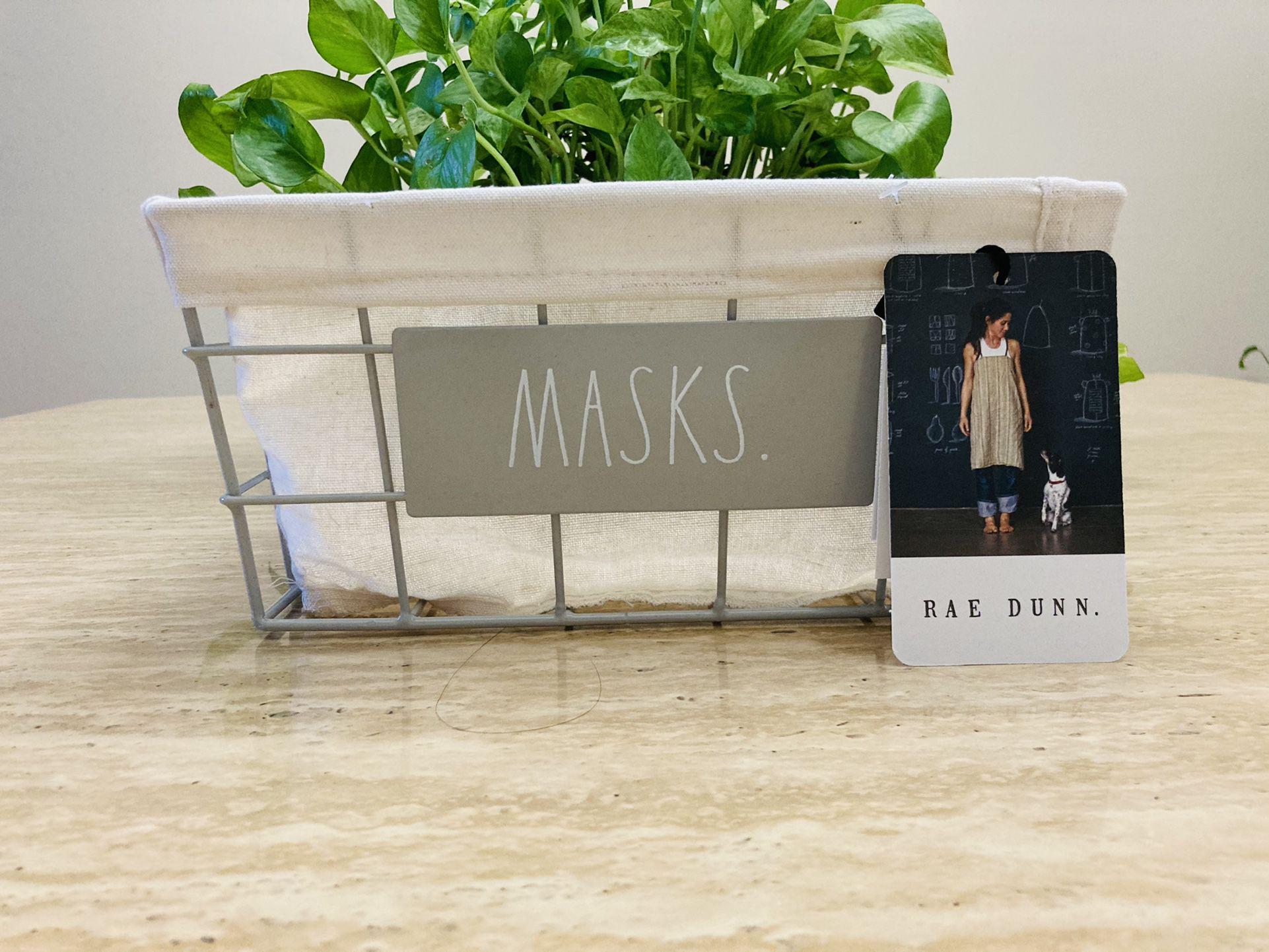 RAE DUNN MASKS Entryway Basket 🧺