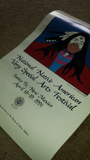 National Native American Arts Festival Poster for Sale in Fairfax, VA