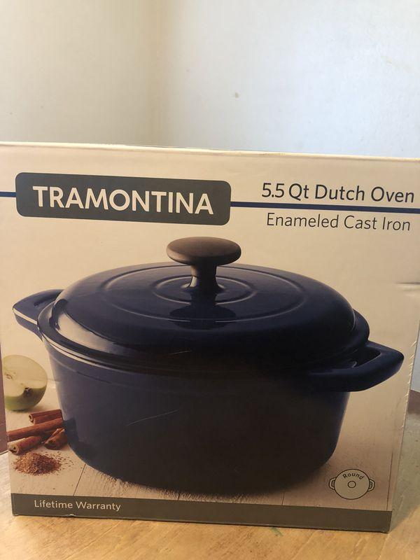 Tramontina 5 5 Qt Dutch Oven Enameled Cast Iron Pot For