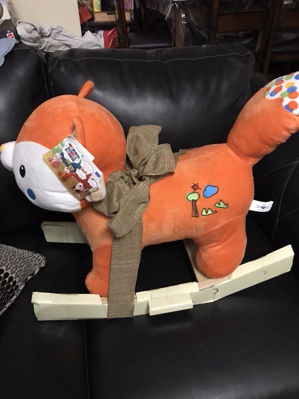 Fox Rocker Plush Animal Toy Rocking Chair Orange Toddler Music