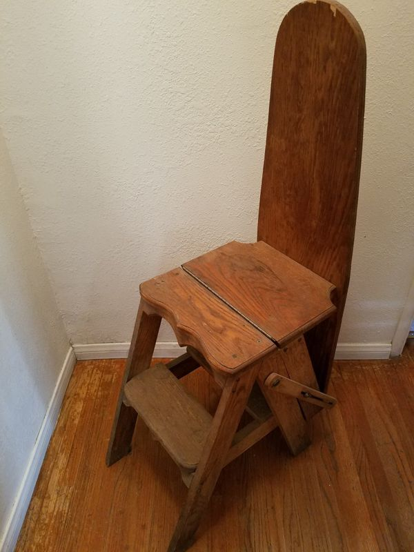 Antique Wooden 3-in-1 Ironing Board, Step Stool, and Chair (Antiques) in  Lancaster, CA - OfferUp - Antique Wooden 3-in-1 Ironing Board, Step Stool, And Chair (Antiques