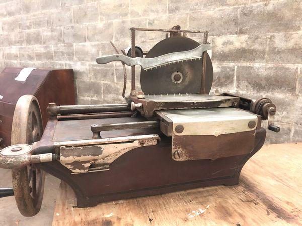 Vintage meat slicer Hand Crank 1920's American Slicing Company Meat Slicer  Model W for Sale in Lancaster, PA - OfferUp