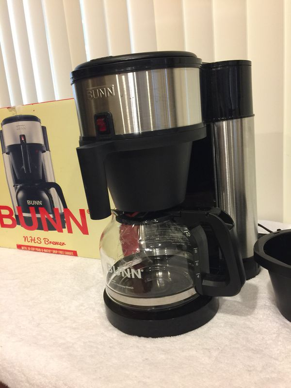 Bunn Nhs Velocity Brew 10 Cup Coffee Brewer In Black New Open