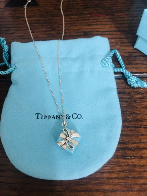 ff1d8c94a95f9 Tiffany blue enamel gift box charm necklace for Sale in Tarpon Springs, FL  - OfferUp