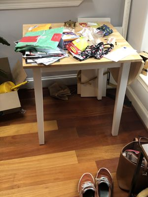 Free small dining table with foldable leaf for Sale in Washington, DC