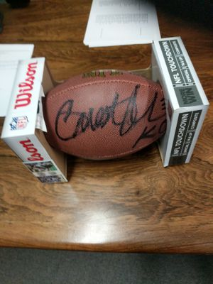 Autographed football Priest Holmes for Sale in Washington, DC