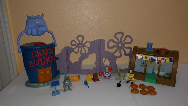 Imaginext SpongeBob Chum Bucket & Krusty Krab for Sale in Orlando, FL -  OfferUp
