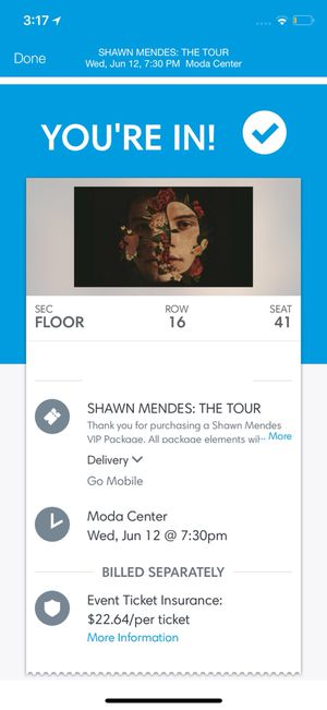Tickets for Shawn mendes for Sale in Tigard, OR