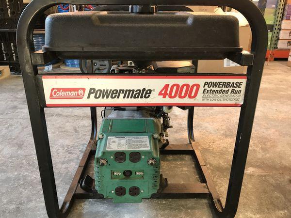 Coleman Powermate 4000 watt generator Bainbridge for Sale in Bainbridge  Island, WA - OfferUp