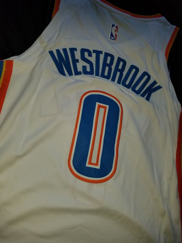 super popular b5ccc 68788 Oklahoma city thunder Russell Westbrook jersey mens nba basketball for Sale  in National City, CA - OfferUp