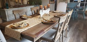 Photo Pier 1 Farmhouse table and chairs like new