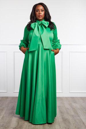 Green Bowtie Maxi Dress - 2X (18/20) for Sale in Eldersburg, MD