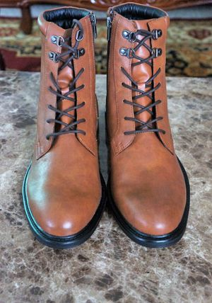 Brand new Alfani for Macy's Leather Men's Boots Size 12 for Sale in Annandale, VA