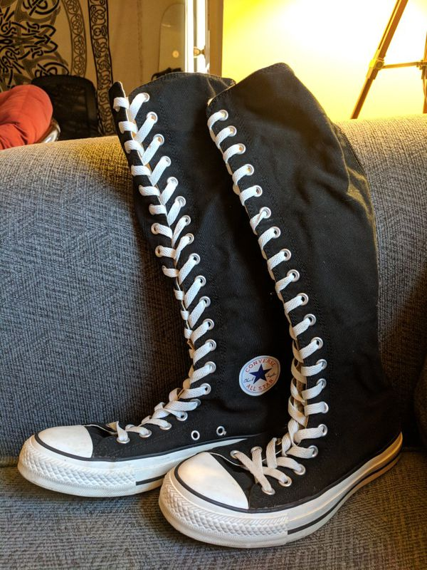 8927df7cc620 Size 8-womens Converse knee-high sneakers for Sale in Lynchburg
