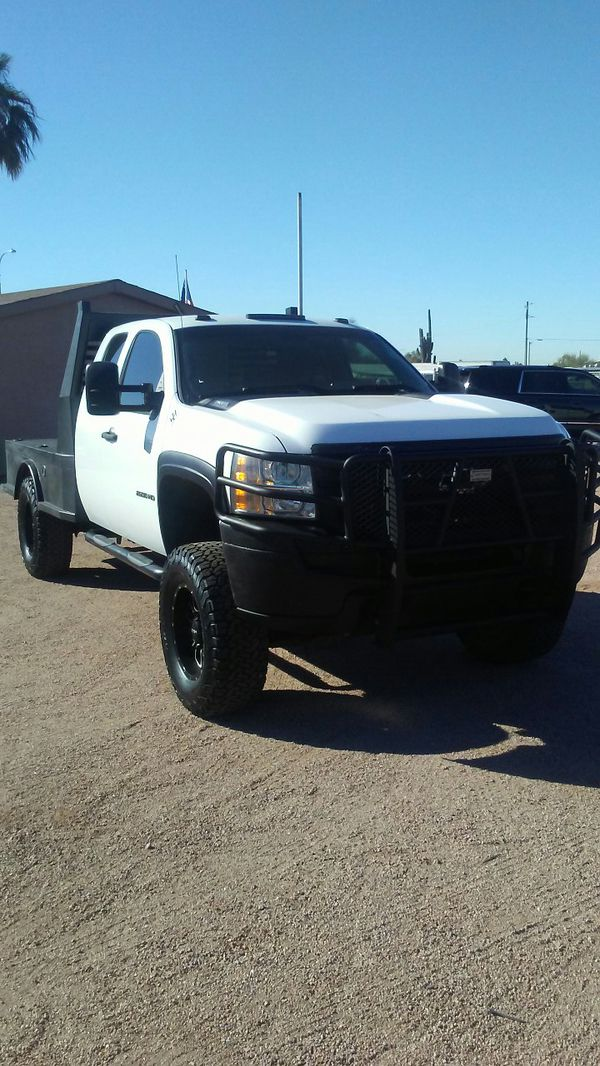 Flat Bed 2013 Silverado Gas Not Diesel 2500 Hd Extended Cab Lifted For Sale In Mesa Az Offerup