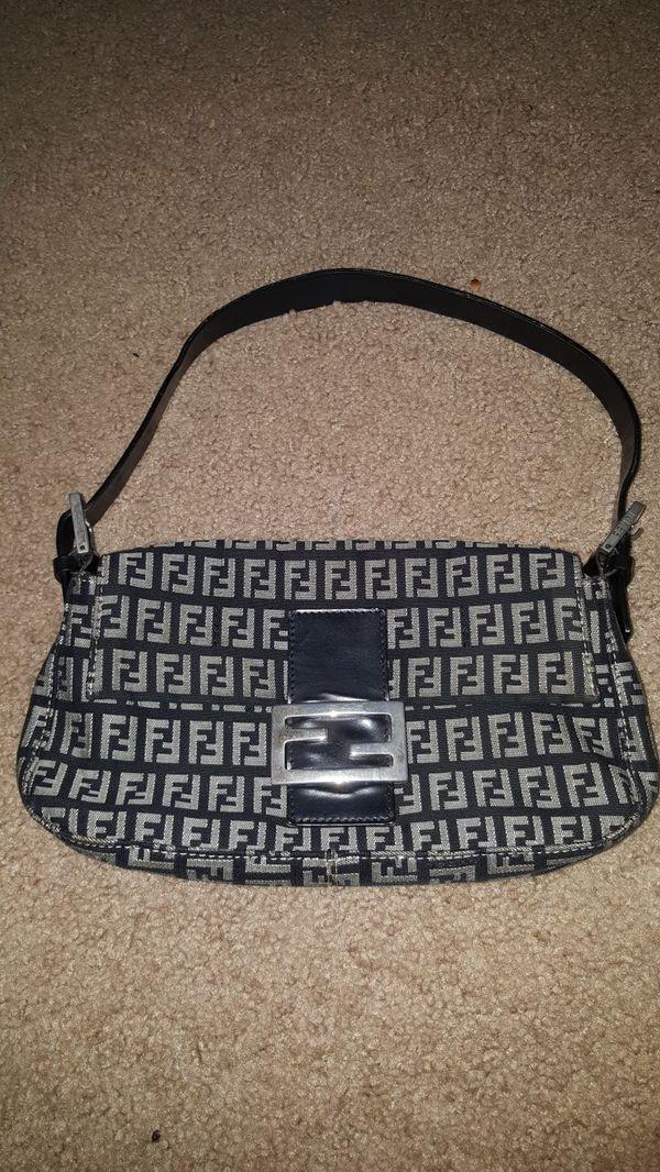 2faad1f339 Fendi classic baguette zucca monogram vintage shoulder bag for Sale ...
