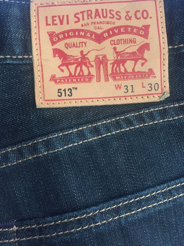 84a25641d2e Levi's 513 slim straight 31x30 jeans for Sale in Castro Valley, CA - OfferUp